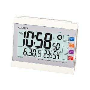 カシオ(CASIO) 電波目覚まし時計 DQL-220J-7JF ホワイト 生活環境お知らせ(湿度計 / 温度計) 電波時計(置き時計) ウェーブセプター(CASIO wave ceptor)|officeland