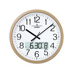 カシオ(CASIO) 電波掛け時計 IC-4100J-9JF シャンパンゴールド オフィスモデル 大型電波クロック ウェーブセプター(CASIO wave ceptor)|officeland