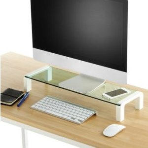 キングジム<KING JIM> ガラス天板デスクボード白(机上台) 幅550mm 8501シロ|officeland