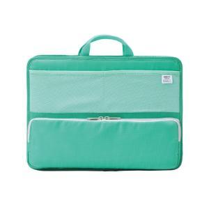 LIHIT LAB.<リヒトラブ> SMART FIT<スマート フィット> bright label スタンドポケット(ヨコ型) A4 グリーン A7664-7 officeland
