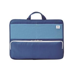 LIHIT LAB.<リヒトラブ> SMART FIT<スマート フィット> bright label スタンドポケット(ヨコ型) A4 ブルー A7664-8|officeland