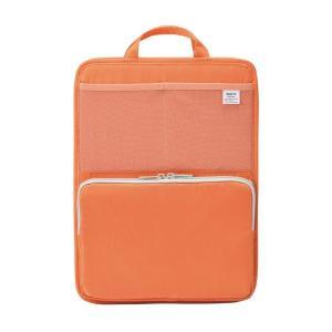LIHIT LAB.<リヒトラブ> SMART FIT<スマート フィット> bright label スタンドポケット(タテ型) A4 オレンジ A7668-4|officeland