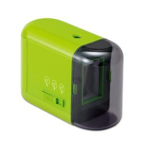 プラス(PLUS)鉛筆削り 乾電池式 電動 芯先3段階調節 グリーン FS-077 84-030|officeland