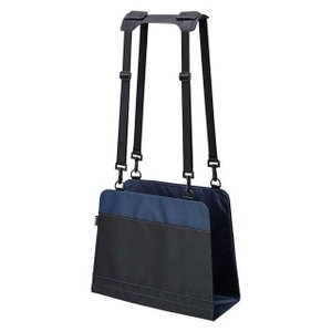 椅子の背もたれを有効活用できる、今までになかった新発想のアイテムです。ポケット付きで小物も収納可能。 「キングジム イスの後ろのカバン置き」