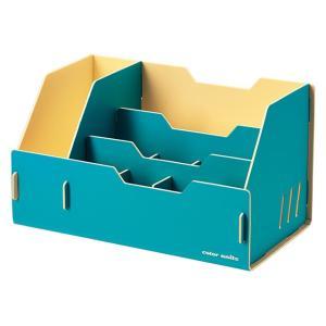 キングジム color units「カラーユニッツ」 デスクオーガナイザー 青 7511アオ KINGJIM|officeland