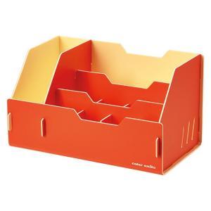 キングジム color units「カラーユニッツ」 デスクオーガナイザー オレンジ 7511オレ KINGJIM|officeland