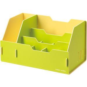 キングジム color units「カラーユニッツ」 デスクオーガナイザー 黄緑 7511キミ KINGJIM|officeland