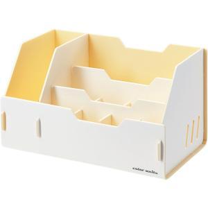 キングジム color units「カラーユニッツ」 デスクオーガナイザー 白 7511シロ KINGJIM|officeland