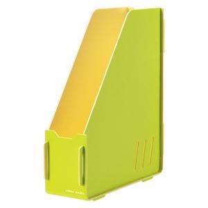 キングジム color units「カラーユニッツ」 マガジンボックス 黄緑 7521キミ KINGJIM|officeland
