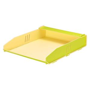 キングジム color units「カラーユニッツ」 レタートレー 黄緑 7531キミ KINGJIM|officeland