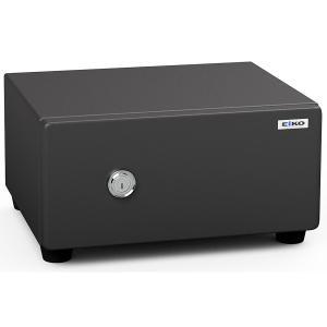 エーコー 家庭用小型耐火金庫 STANDARD BES-2 (シリンダー式) A4横対応 30分耐火 8.3L トレー1枚「EIKO」 20kg