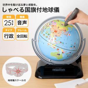 レイメイ藤井 しゃべる国旗付き地球儀 OYV403 球径25cm|officeland