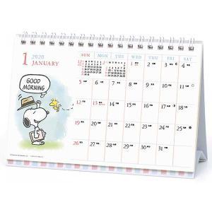 2020年 卓上 カレンダー No.206 水彩スケジュール PEANUTS 100010109414 アートプリントジャパン|officeland