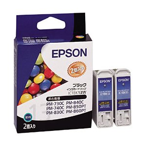 EPSON インクジェットプリンタ用インクカートリッジ (IC1BK13W)|officemarket