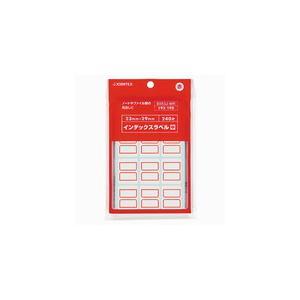 ジョインテックス インデックスラベル 赤枠 240片 23×29|officemarket
