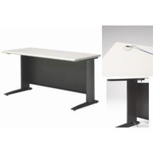 プラス 平机(ライトグレー) 1400mm|officemarket