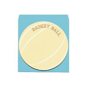 【封筒】ボール円型色紙 ケ492 バスケ 封筒付|officemarket