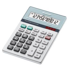 【シャープ SHARP】 電卓 (12桁) ナイスサイズ EL-N412-K|officemarket