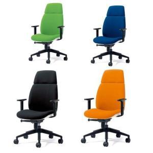 チェア U CHAIR (ユー チェア) オフィスチェア ハイバック(肘付) PLUS(プラス) KD-UC53SEL 823-560<背面タイプ:ホワイト><4色> officemarket