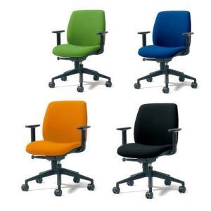 チェア U CHAIR (ユー チェア) オフィスチェア ローバック(肘付) PLUS(プラス) KD-UC61SEL 823-814<背面タイプ:ブラック><4色> officemarket