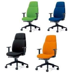 チェア U CHAIR (ユー チェア) オフィスチェア ハイバック(肘付) PLUS(プラス) KD-UC63SEL 823-808<背面タイプ:ブラック><4色>|officemarket