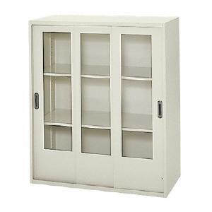 【プラス】ガラス3枚引違い保管庫 標準型 |officemarket
