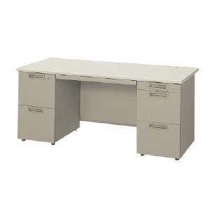 【プラス】両袖机(2段×A-3段)[LA]  幅1400mm ベーシックタイプ LAデスク|officemarket