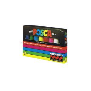 【三菱鉛筆】ポスカセット 太字8色セット PC8K 8C|officemarket