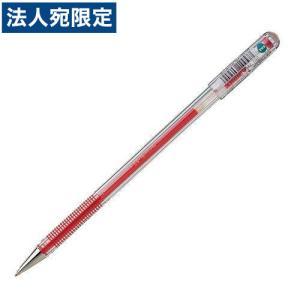 ぺんてる ボールペン ハイブリッド EK105 0.5mm 赤 10本 EK105-GB|officetrust
