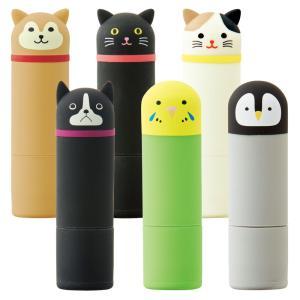 ◆ゆうパケット対応可◆  ネーム印のシヤチハタ Xスタンパー「ネーム9」にかぶせて使える動物柄のかわ...