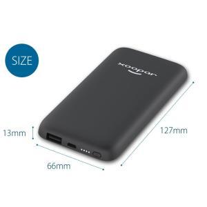 モバイルバッテリー 軽量 大容量 5000mAh iPhone iPad Android 各種対応 グレー 急速充電 薄型 スマホバッテリー 携帯充電器 Xoopar BUBBLE BANG|offinet-kagu|06