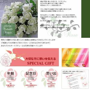 クリスマス 誕生日 バラ 花束 生花 ブーケ 本数指定白いバラ 「セレクトホワイトローズ」|offrir|03