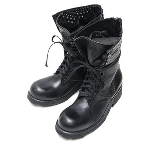 KMRii(ケムリ)-SO-Chrome Boots 10/BLACK|offside