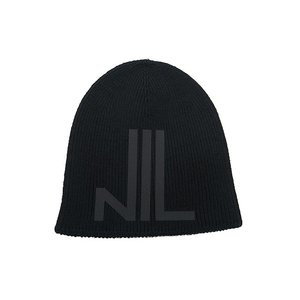 NILoS(ニルズ)-CA-CO/WO STRAIGHT YARN NIL BEANIE・BLACK|offside