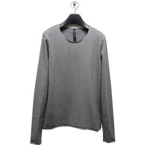 wjk(ダブルジェイケイ)-CK-cut-off neck cut&sewn L/S/t.gray|offside