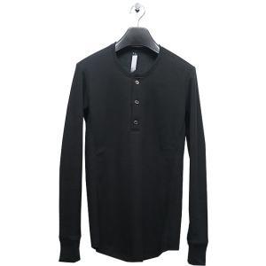 wjk(ダブルジェイケイ)-CK-henley long-T(back boa)/black|offside