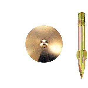 真鍮製水準点鋲 径50mm No.9-φ50:No.9-φ50|offsite