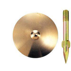 真鍮製水準点鋲 径75mm No.9-φ75:No.9-φ75|offsite
