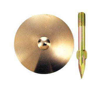 真鍮製水準点鋲 径80mm No.9-φ80:No.9-φ80|offsite