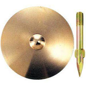 真鍮製水準点鋲 径100mm No.9-φ100:No.9-φ100|offsite