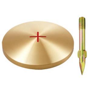 真鍮製基準点鋲 径100mm BS100:BS100|offsite