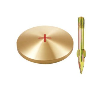 真鍮製基準点鋲 径80mm BS80:BS80|offsite