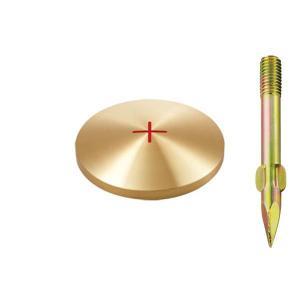 真鍮製基準点鋲 径63mm BS63:BS63|offsite