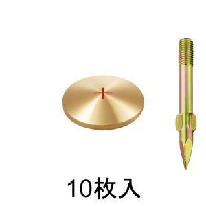 真鍮製基準点鋲 径50mm BS50 10枚入:BS50|offsite