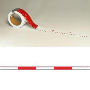 ユポロッド 30cm毎赤白 幅50mm:YR503|offsite