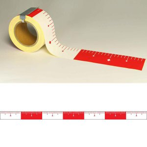 ユポロッド 20cm毎赤白 幅75mm:YR752|offsite