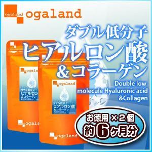 W低分子ヒアルロン酸&コラーゲン サプリメント 約6ヶ月分