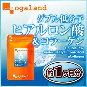 W低分子ヒアルロン酸&コラーゲン サプリメント 約1ヶ月分