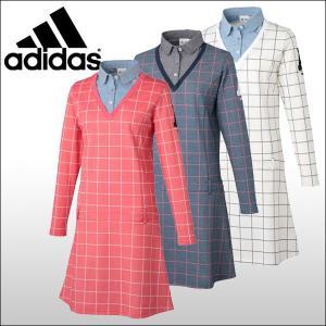 【60%OFF クリアランスセール】 アディダスゴルフ (adidas) JP adicross ウインドウペンチェック レイヤードライク 長袖ドレス レディース|ogawagolf