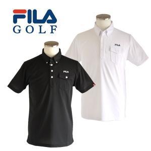 【30%OFFセール】 フィラゴルフ (FILA GOLF) ポケット付き 半袖ポロシャツ メンズ 2017春夏 2017SSap_SALE ogawagolf